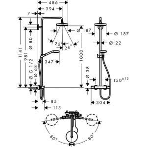 Душевая система Hansgrohe Croma Select S HG-27254400 хром