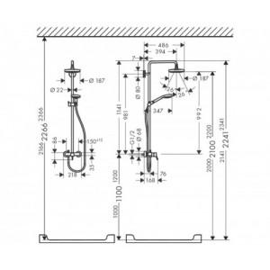 Душевая система Hansgrohe Croma Select S HG-27255400 хром
