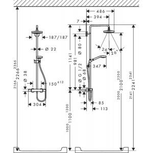 Душевая система Hansgrohe Croma Select S HG-27256400 хром