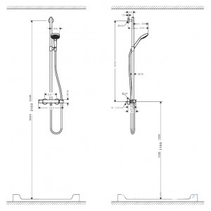 Душевая система Hansgrohe Croma Select E HG-27259400 хром
