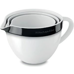Набор керамических чаш KitchenAid KBLR03NBOB черный