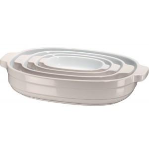 Набор керамических кастрюль KitchenAid KBLR04NSAC кремовый