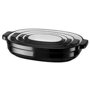 Набор керамических кастрюль KitchenAid KBLR04NSOB черный
