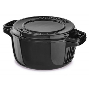 Кастрюля чугунная 3.8 л, KitchenAid KCPI40CROB черный