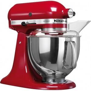 Планетарный миксер KitchenAid Artisan 4.8 л 5KSM150PSEER красный
