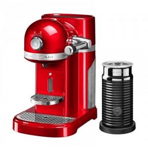 Кофемашина KitchenAid Nespresso 5KES0504EER+ Aeroccino красный