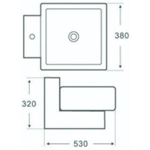 Раковина MELANA MLN-800-А041 белый