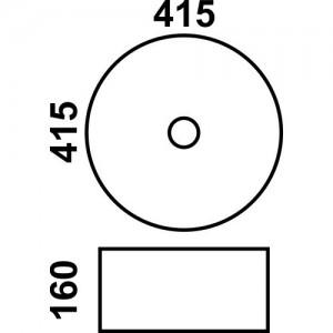 Раковина MELANA MLN-803-7076 белый