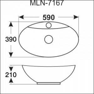 Раковина MELANA MLN-803-7167 белый