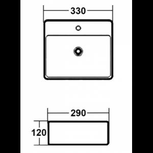 Раковина MELANA MLN-803-7440А(А030) белый