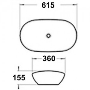 Раковина MELANA MLN-803-7811А(А478) белый
