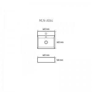 Раковина MELANA MLN-803-А064 белый