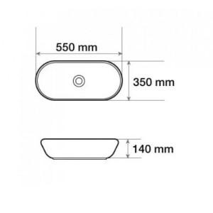 Раковина MELANA MLN-803-А110(852) белый