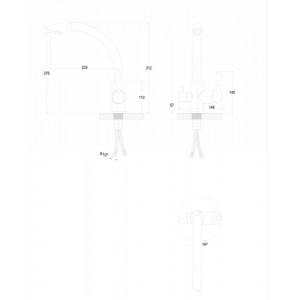 Смеситель Paulmark Essen Es213001 для кухни с изливом для фильтра хром