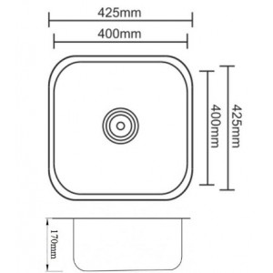Мойка ZORG SZR-4040 бронза