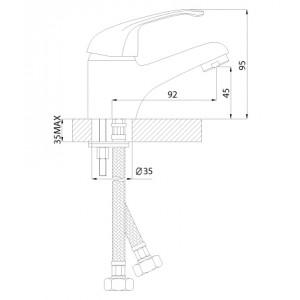 Смеситель Rossinka A35-11 для раковины