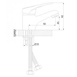 Смеситель Rossinka B35-11 для раковины