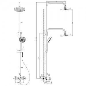 Душевая система Rossinka B35-45 для душа
