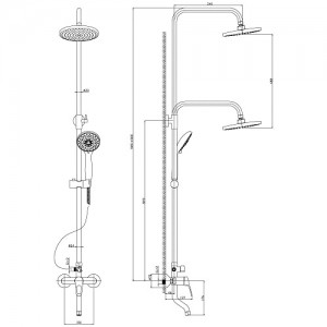 Душевая система Rossinka B35-46 для ванны