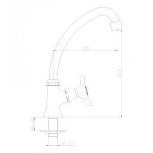 Rossinka Q02-60U для холодной воды
