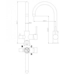 Rossinka Z35-28 хром для кухни