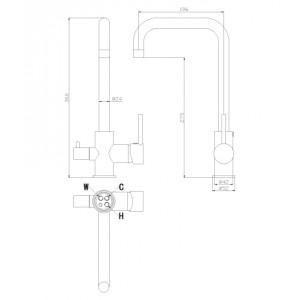 Rossinka Z35-29 хром для кухни