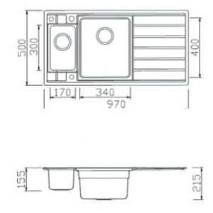 Мойка Seaman Eco Roma SMR-9750B2, вентиль-автомат