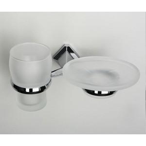 Wasserkraft Aller K-1126 держатель стакана и мыльницы, хром