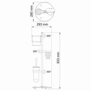 Wasserkraft Ammer K-1236 комбинированная напольная стойка, матовый хром