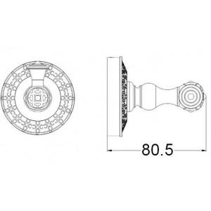 Zorg AZR 01 Br крючок одинарный бронза