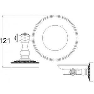 Zorg AZR 06 Br мыльница со стеклом бронза
