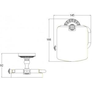 Zorg AZR 08 Br бумагодержатель с крышкой бронза