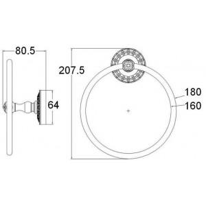 Zorg AZR 11 Br кольцо для полотенца бронза