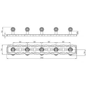 Zorg AZR 18 Br 5 крючков на планке бронза