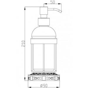 Zorg AZR 25 Br дозатор настольный бронза