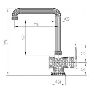 Zorg A 418K-BR бронза смеситель