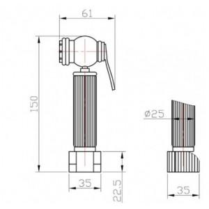 Zorg AZR 3 LB Br гигиенический душ бронза
