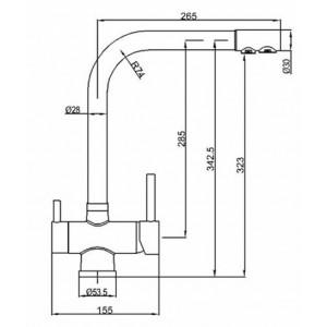 Смеситель Zorg ZR-348-YF Nickel