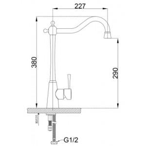 Zorg ZR-355-YF-BR смеситель