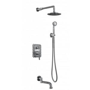 Душевая система Zorg A 104DS-SL серебро