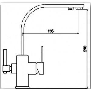 Смеситель Bennberg 20F1122 Хром