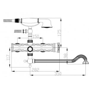 Смеситель на ванну Zorg A 101W-DN-SL