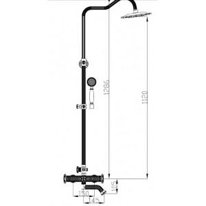 Душевая система Zorg A 1002DS-BR бронза