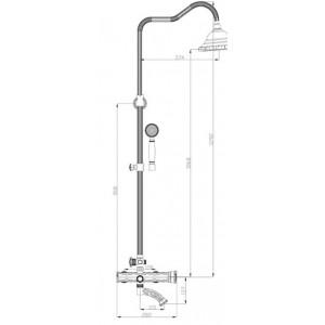 Душевая система Zorg A 103DS-SL серебро