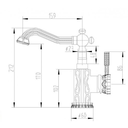Смеситель Zorg A 114U-SL серебро