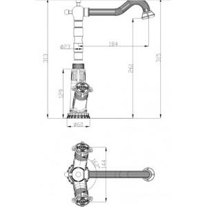 Смеситель Zorg A 3006K-BR бронза