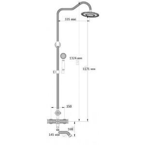 Душевая система Zorg A 403DS-BR бронза