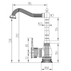 Zorg A 414K-BR бронза смеситель
