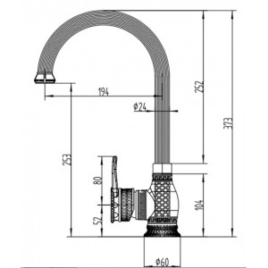 Zorg A 416K-BR бронза смеситель