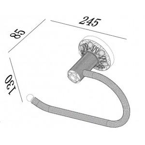 Zorg A-41 BR Кольцо для полотенца